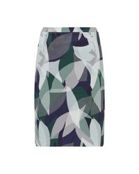 Jigsaw - Green Woven Leaves Pencil Skirt - Lyst