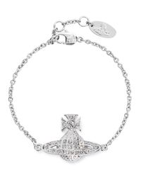 Vivienne Westwood Metallic Minnie Silver-tone Orb Bracelet