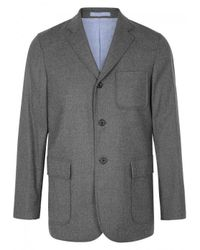 Beams Plus | Gray Plus Checked Wool Blend Jacket for Men | Lyst