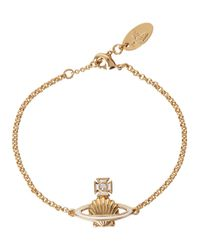 Vivienne Westwood | Metallic Medea Swarovski Shell Gold Tone Bracelet | Lyst