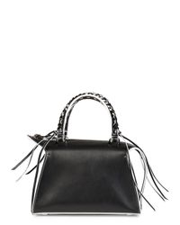 Elena Ghisellini Gabria Mini Black Leather Tote