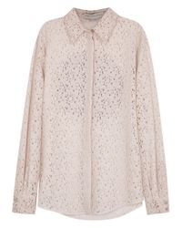 Stella McCartney Multicolor Off White Floral-embroidered Lace Shirt