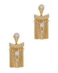 Ca&Lou   Metallic Karen Fringed 24kt Gold-plated Earrings   Lyst