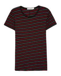 Rag & Bone   Black Jaspe Striped Cotton Blend T-shirt for Men   Lyst