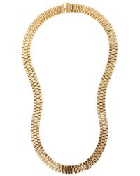 Lanvin | Metallic Chain-link Gold Tone Necklace | Lyst