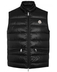 Moncler | Black Gui Quilted Shell Gilet - Size 6 for Men | Lyst