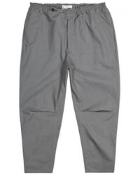 OAMC Gray Isle Grey Cotton Shell Trousers - Size W36 for men