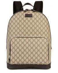 Gucci Natural Gg Supreme Monogrammed Backpack