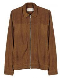 Oliver Spencer Brown Buck Tawny Suede Jacket - Size 40 for men