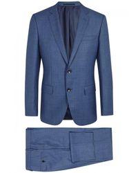 BOSS Black Genius Blue Wool Suit - Size 38 for men