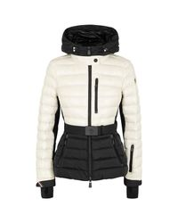 480ee3500 3 MONCLER GRENOBLE Monochrome Quilted Shell Jacket in Black - Lyst