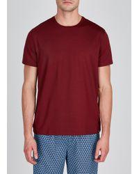 Derek Rose Red Basel Lounge T-shirt for men