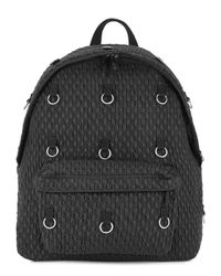 Eastpak X Raf Simons Black Matelassé Backpack for men