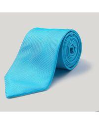 Harvie and Hudson - Blue Sky Plain Essential Woven Silk Tie for Men - Lyst