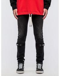 Palm Angels Black Fireman Skinny Jeans for men
