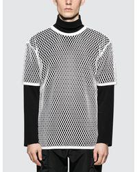 Burberry White Mesh S/s T-shirt for men