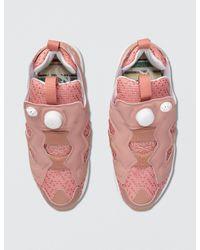 Reebok - Pink Instapump Fury Off Tg Shoe - Lyst