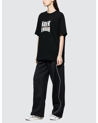 ADER ERROR Black Ader Logo Short Sleeve T-shirt