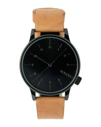 Komono Black Cognac Winston Regal Watch for men