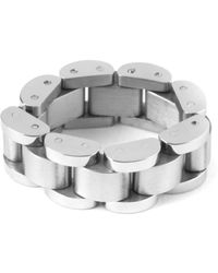 Mister - Gray Steel Mr. Band Ring - Lyst