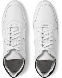 Facto - White Vesta Pebblegrain Mid Top Sneakers for Men - Lyst