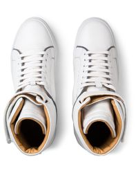 Ylati White Amalfi High Top Sneakers With 3m Details for men