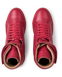 Ylati Red Amalfi High Top Sneakers for men