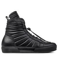 Ylati Black Apollo High Top Sneakers for men