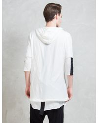Thom Krom - Black Double Layer Hoodie for Men - Lyst