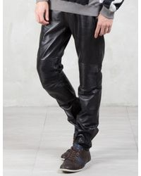 Factotum - Multicolor Knee Patch Slim Leather Pants for Men - Lyst