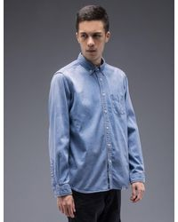 "Bedwin And The Heartbreakers - Multicolor ""wyatt"" L/s Button Down Denim Shirt for Men - Lyst"