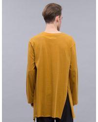 BED j.w. FORD Multicolor Slit Sleeve T-shirt for men