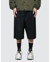 Maison Margiela Black Drawstring Wool Shorts for men
