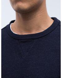 Blue Blue Japan - Blue Mod Indigo Yarn Dyed Crewneck Sweatshirt for Men - Lyst