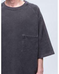 Yeezy Blue Crop Sleeve Raglan T-shirt for men