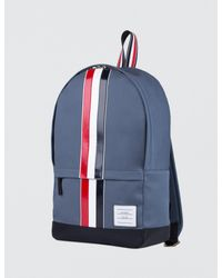 Thom Browne - Blue Mackintosh Backpack With Rwb Leather Stripe for Men - Lyst