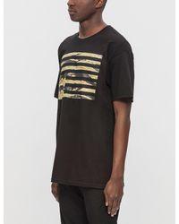 Black Scale - Black Tiger Camo Rebel Flag S/s T-shirt for Men - Lyst