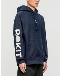 ROKIT Blue The Core Champion Reverse Weave Hoodie for men