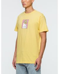 RIPNDIP Yellow Nermal S.thompson T-shirt for men