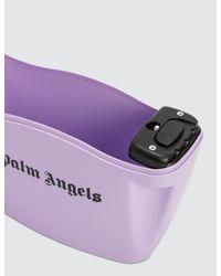 Palm Angels Purple Strap Padlock Bag