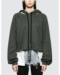 Unravel Project Gray Cot Cashmere Hoodie Cut