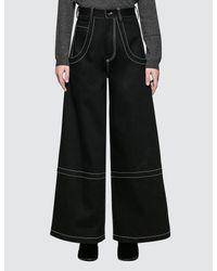 Maison Margiela Black Stitch Detail 5 Pockets Pants
