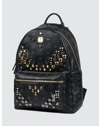 MCM - Black Stark Backpack Medium - Lyst