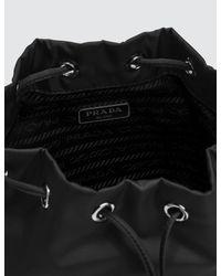 Prada Black Vela Nylon Drawstring Wash Bag