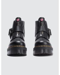 Dr. Martens Black Lazy Oaf X Buckle Boots