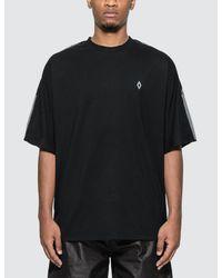 Marcelo Burlon Black County Tape Over T-shirt for men