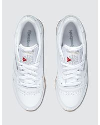 Reebok - White Cl Leather - Lyst
