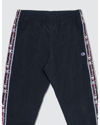Champion Blue Side Logo Track Pants for men