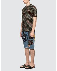 Loewe Blue Paula Patches Shorts for men