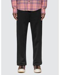 Acne Black Technical Logo Zip Sweatpants for men